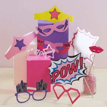 Pink Pop Art Party Photo Props